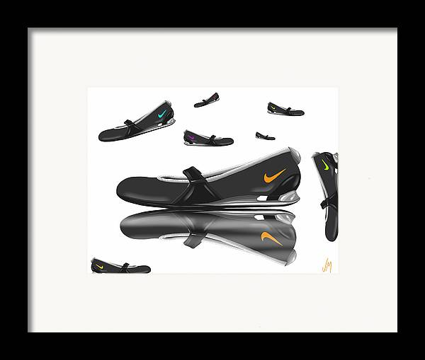 Digital Framed Print featuring the painting Nike by Veronica Minozzi
