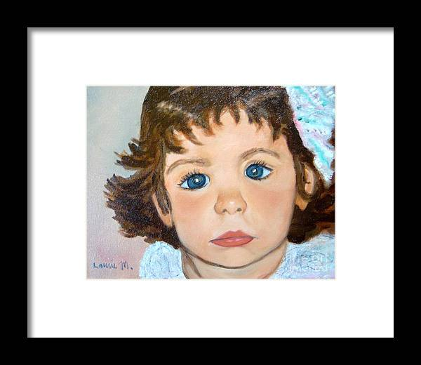 Portrait Framed Print featuring the painting Nikki by Laurie Morgan