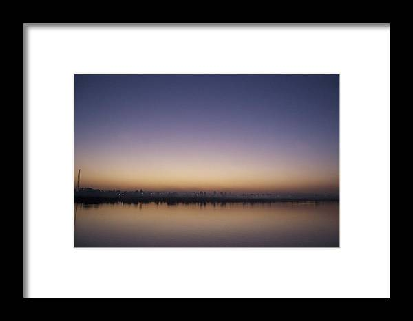 Nile Framed Print featuring the photograph Nile River Mist by Galexa Ch