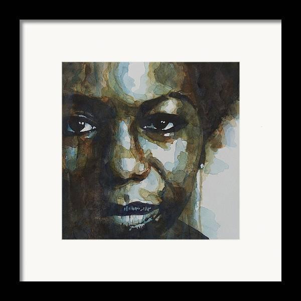 Nina Simone Framed Print featuring the painting Nina Simone by Paul Lovering