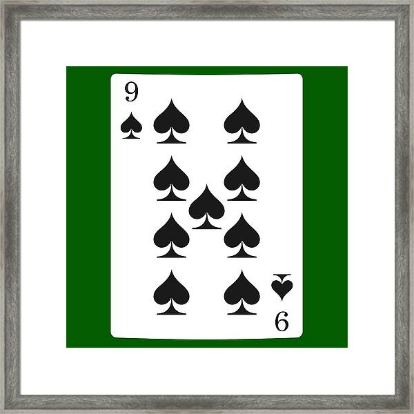 Nine Spades. Card Suit Icon Vector, Playing Cards Symbols Vector, Set Icon  Symbol Suit, Card Suit Icon Sign, Icon , Stock Vector Framed Print