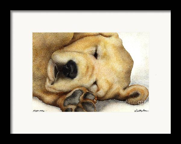 Will Bullas Framed Print featuring the painting Nipper Nap... by Will Bullas