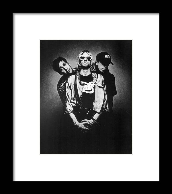 Retro Images Archive Framed Print featuring the photograph Nirvana Band by Retro Images Archive