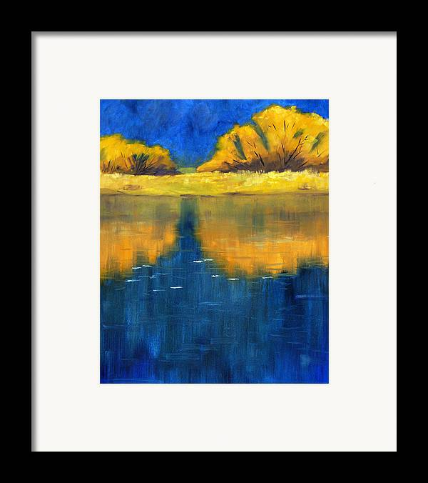 Nisqually River Framed Print featuring the painting Nisqually Reflection by Nancy Merkle