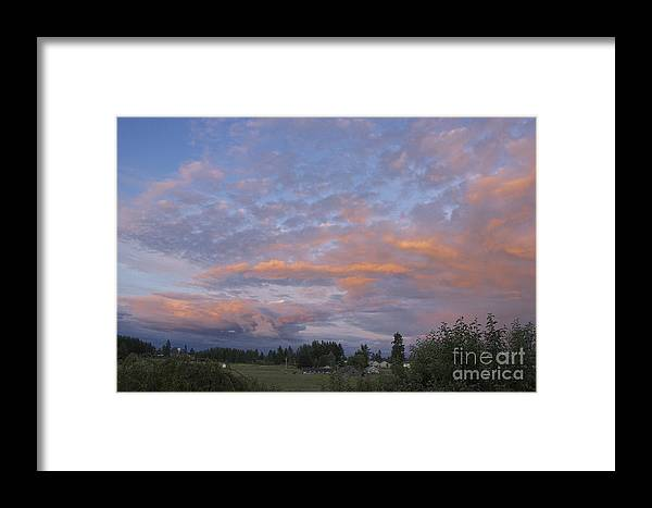 Photography Framed Print featuring the photograph Nisqually Valley Sunset by Sean Griffin