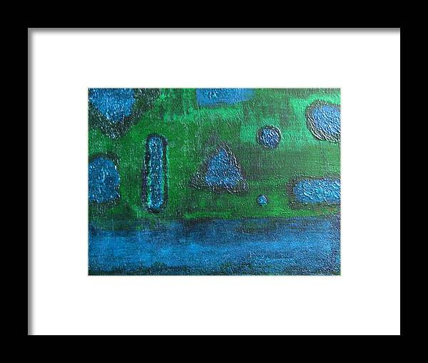Abstract Framed Print featuring the painting No. 404 by Vijayan Kannampilly