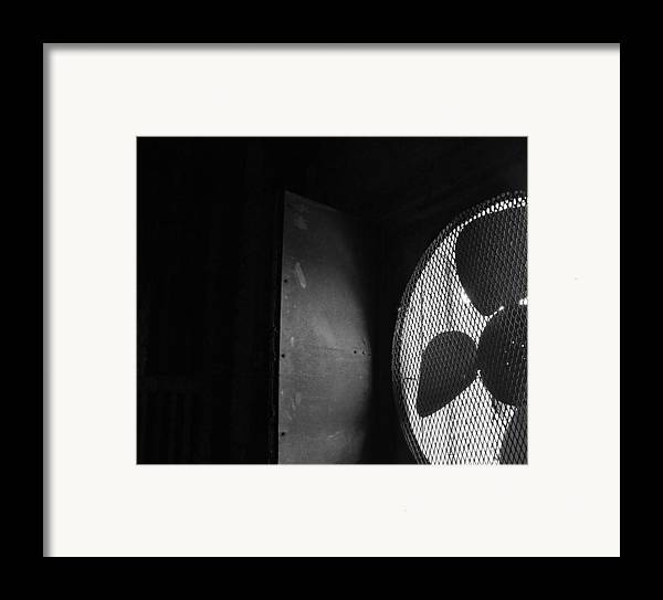 No Framed Print featuring the photograph No A/c Bw by Elizabeth Sullivan