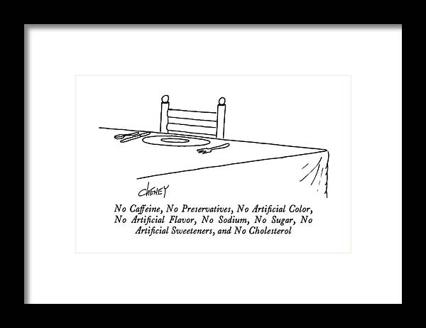 No Caffeine Framed Print featuring the drawing No Caffeine by Tom Cheney