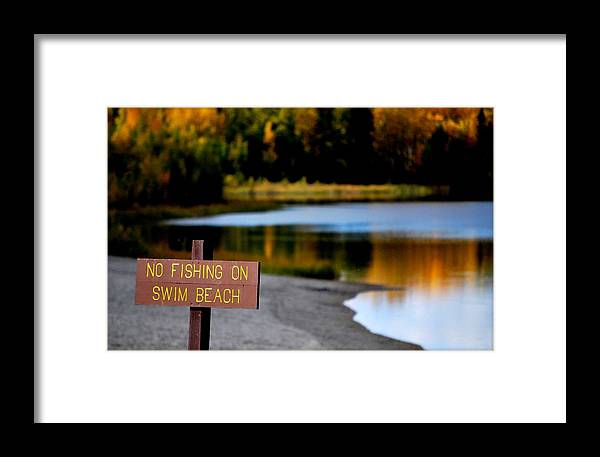 Fish Framed Print featuring the photograph No Fishing by Kathy Sampson