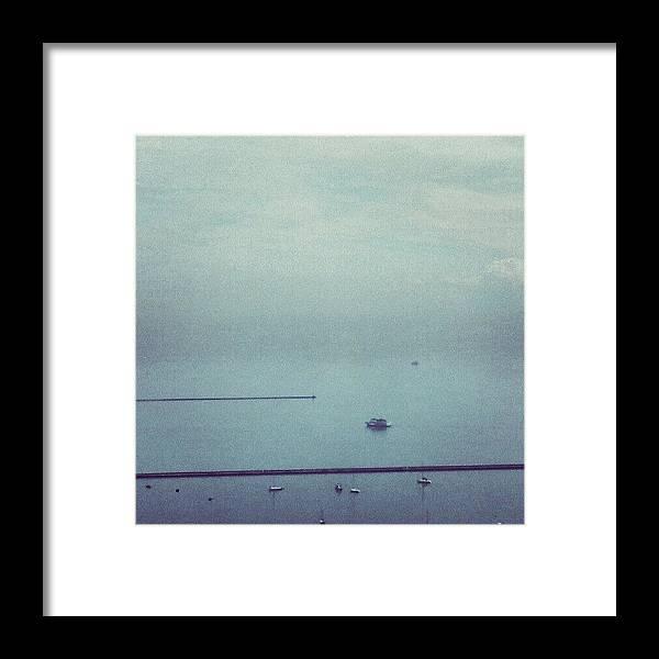 Lake Framed Print featuring the photograph No Horizon by Jill Tuinier