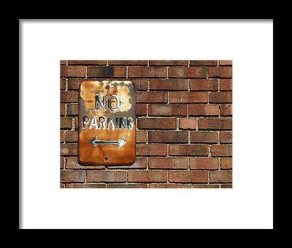 No Parking Framed Print featuring the photograph No Parking by Ryan Brady-Toomey