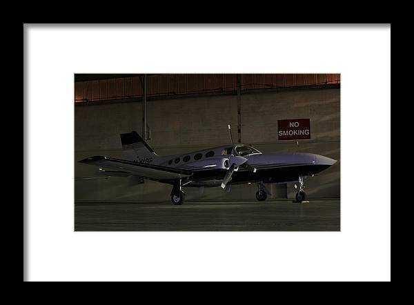 Cessna Framed Print featuring the photograph No Smoking by Scott Stephens