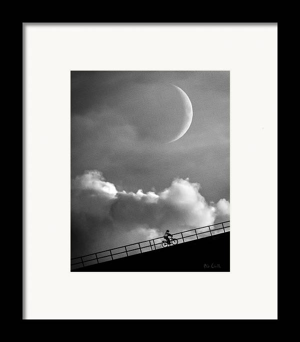 Crescent Moon Framed Print featuring the photograph No Turning Back by Bob Orsillo