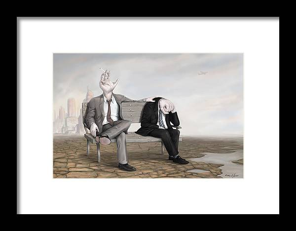 Framed Print featuring the digital art No Worries by Roel Crespo