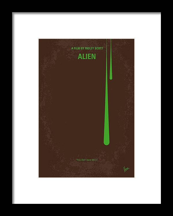 Alien Framed Print featuring the digital art No004 My Alien minimal movie poster by Chungkong Art