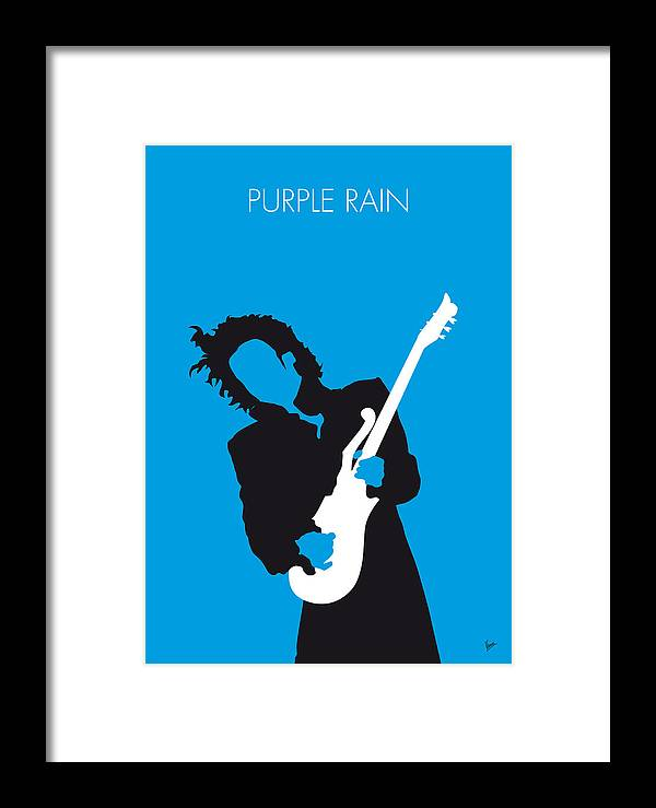 Prince Framed Print featuring the digital art No009 My Prince Minimal Music Poster by Chungkong Art