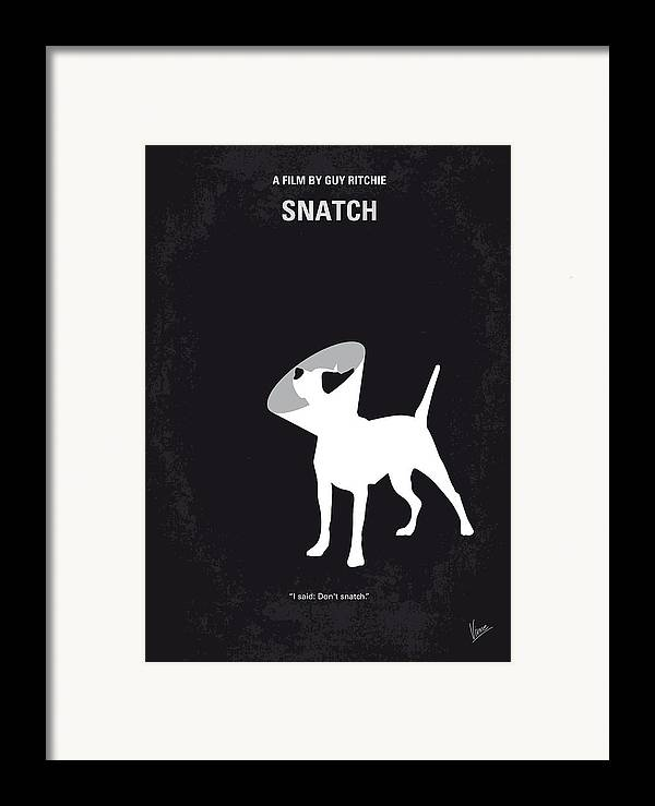 Snatch Framed Print featuring the digital art No079 My Snatch Minimal Movie Poster by Chungkong Art