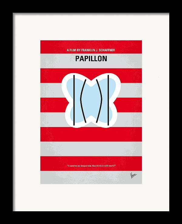 Papillon Framed Print featuring the digital art No098 My Papillon Minimal Movie Poster by Chungkong Art