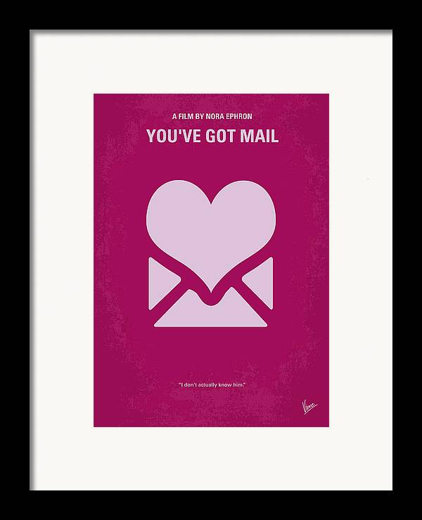You Framed Print featuring the digital art No107 My Youve Got Mail Movie Poster by Chungkong Art
