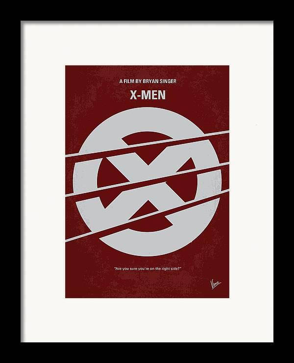 Xmen Framed Print featuring the digital art No123 My Xmen Minimal Movie Poster by Chungkong Art