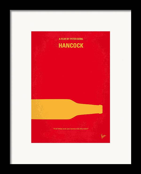 Hancock Framed Print featuring the digital art No129 My Hancock Minimal Movie Poster by Chungkong Art