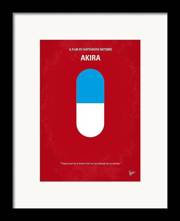 Akira Framed Print featuring the digital art No144 My Akira Minimal Movie Poster by Chungkong Art