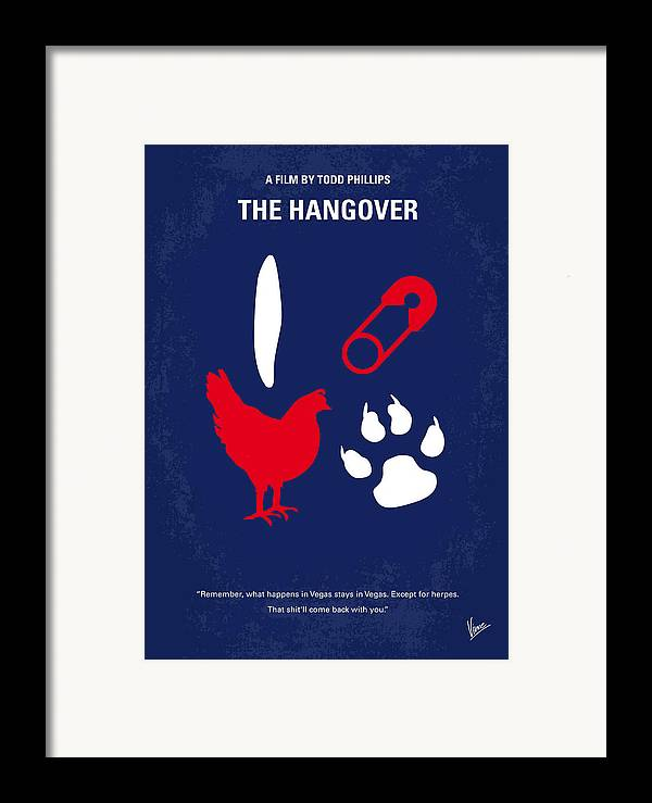 Hangover Framed Print featuring the digital art No145 My The Hangover Minimal Movie Poster by Chungkong Art