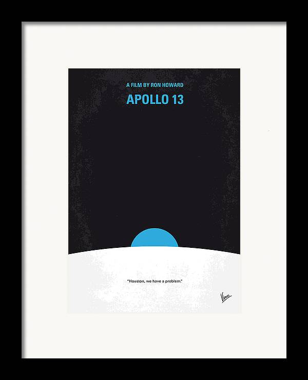 Apollo Framed Print featuring the digital art No151 My Apollo 13 Minimal Movie Poster by Chungkong Art