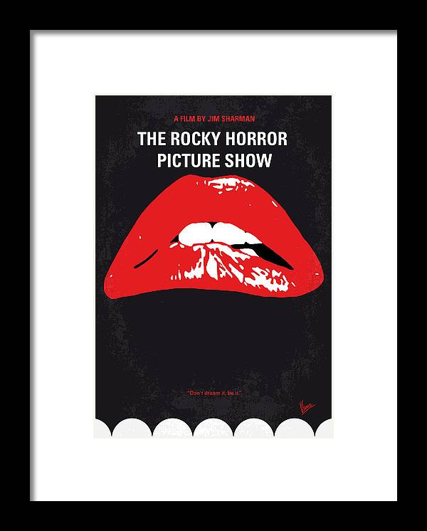 The Framed Print featuring the digital art No153 My The Rocky Horror Picture Show minimal movie poster by Chungkong Art