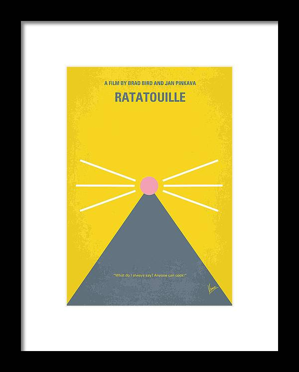 Ratatouille Framed Print featuring the digital art No163 My Ratatouille minimal movie poster by Chungkong Art