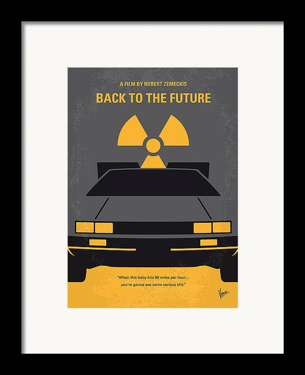Back Framed Print featuring the digital art No183 My Back To The Future Minimal Movie Poster by Chungkong Art