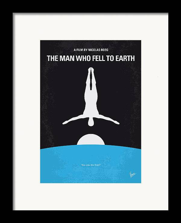 Man Framed Print featuring the digital art No208 My The Man Who Fell To Earth Minimal Movie Poster by Chungkong Art