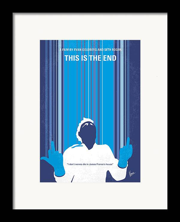 This Framed Print featuring the digital art No220 My This Is The End Minimal Movie Poster by Chungkong Art