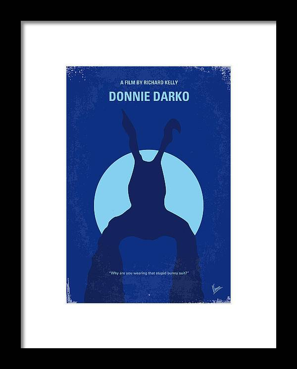 Donnie Framed Print featuring the digital art No295 My Donnie Darko minimal movie poster by Chungkong Art