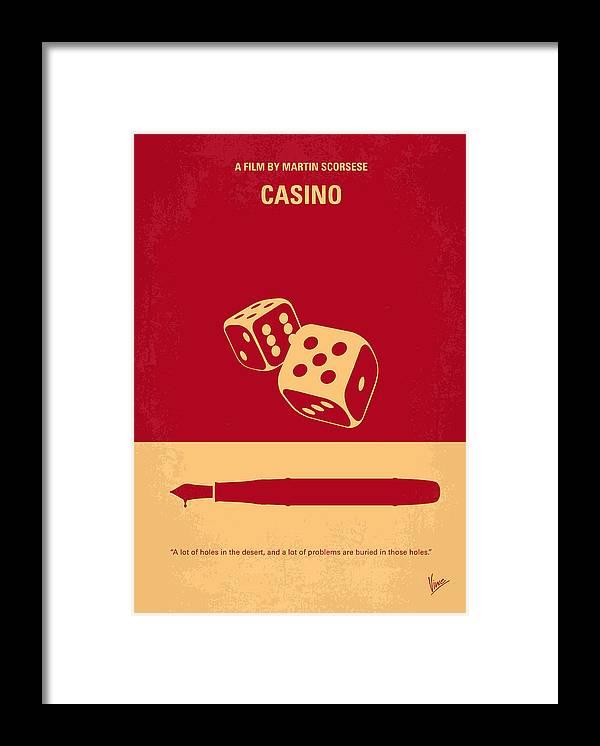 Casino Framed Print featuring the digital art No348 My Casino minimal movie poster by Chungkong Art