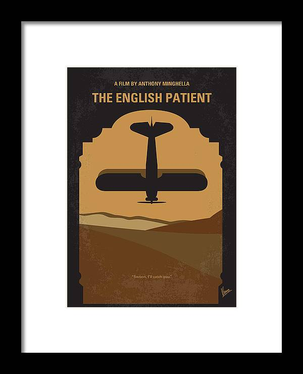 English Framed Print featuring the digital art No361 My The English Patient Minimal Movie Poster by Chungkong Art