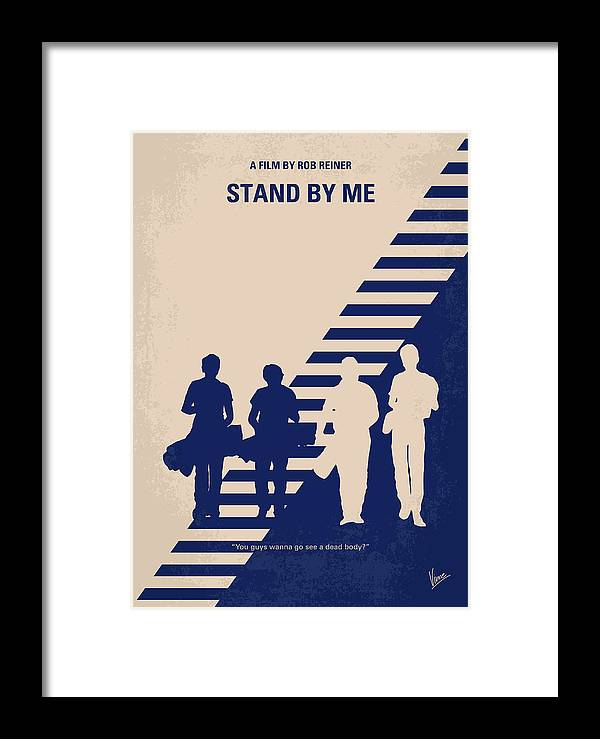 Stand Framed Print featuring the digital art No429 My Stand By Me Minimal Movie Poster by Chungkong Art
