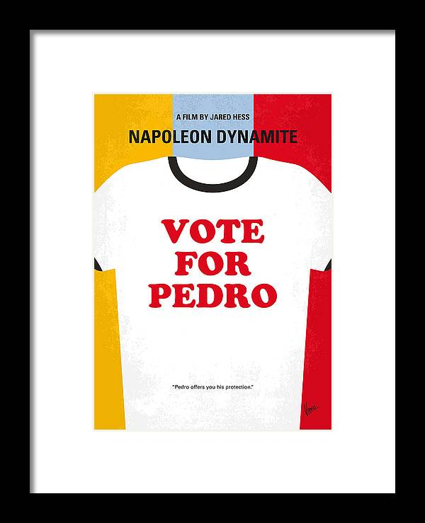Napoleon Framed Print featuring the digital art No430 My Napoleon Dynamite Minimal Movie Poster by Chungkong Art