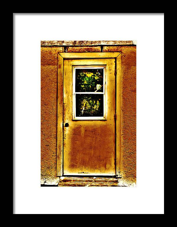 Door Photographs Framed Print featuring the photograph Nobody's Home by Ester Rogers