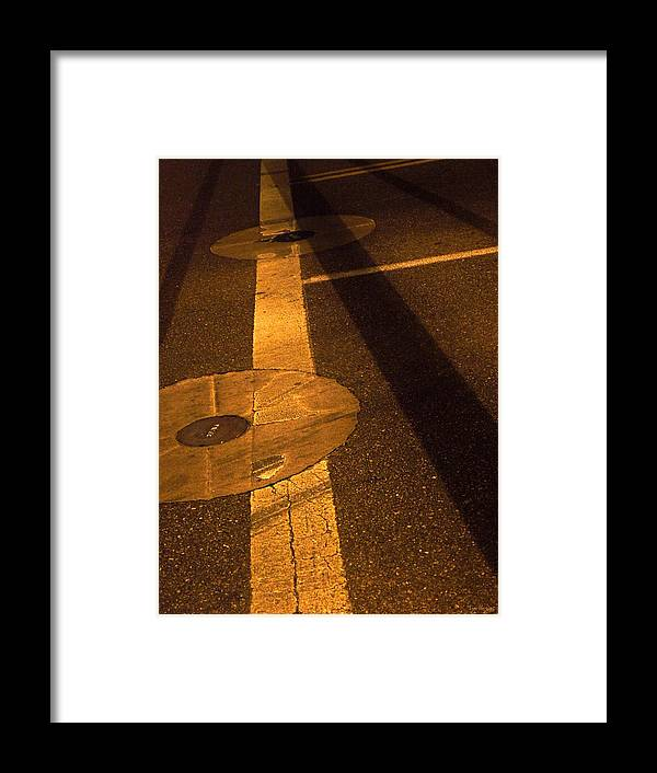 Shadow Framed Print featuring the photograph Nocturnal Street Shadows by Lin Haring