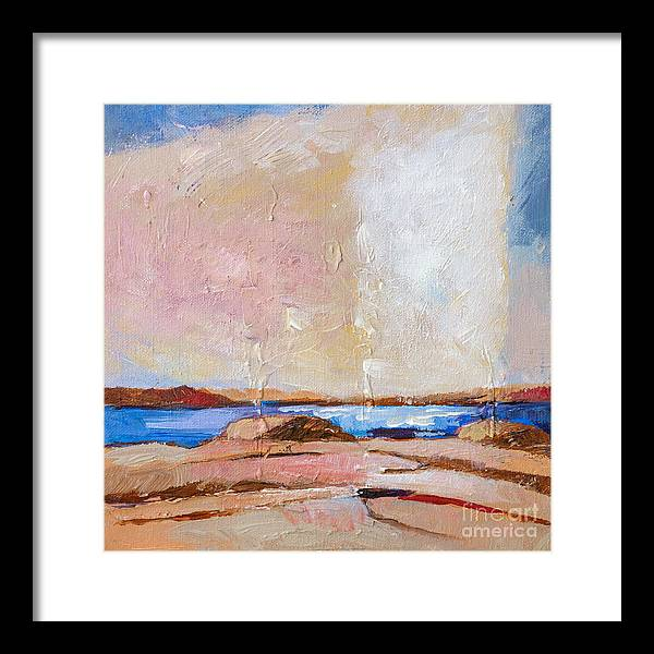 Nordic Seascape Framed Print featuring the painting Nordic Seascape by Lutz Baar
