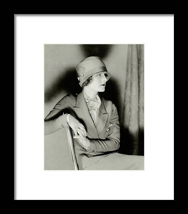 826098efaf30b8 Norma Shearer Wearing A Cloche Hat Framed Print by Charles Sheeler
