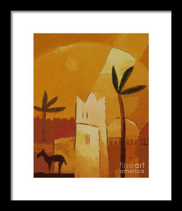 Africa Framed Print featuring the painting North Africa by Lutz Baar