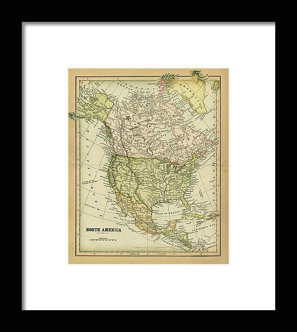 Burnt Framed Print featuring the digital art North America 1883 by Thepalmer