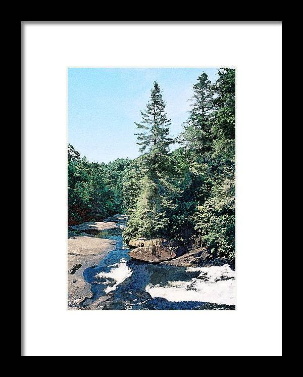 Landscape Framed Print featuring the digital art North Carolina Landscape by Steve Karol