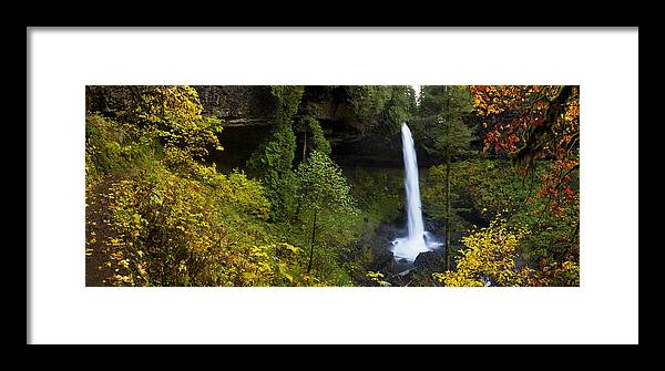 North Falls Framed Print featuring the photograph North Falls Panorama by Wade Crutchfield