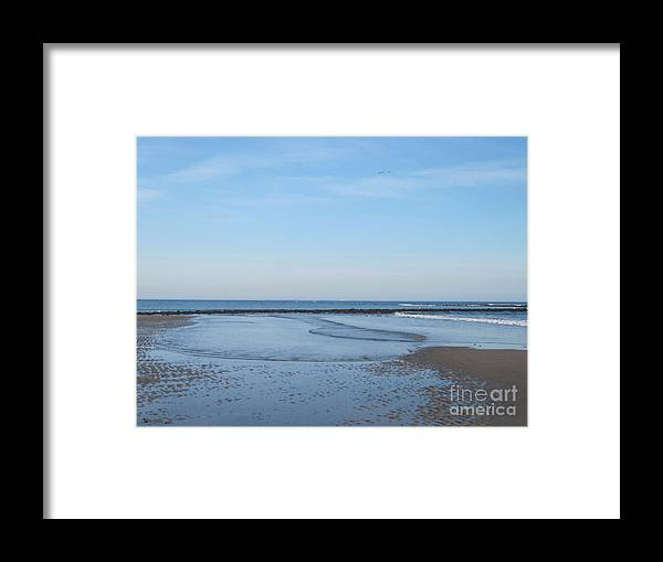 North Hampton Framed Print featuring the photograph North Hampton Beach At Very Low Tide by Barbara Milhender