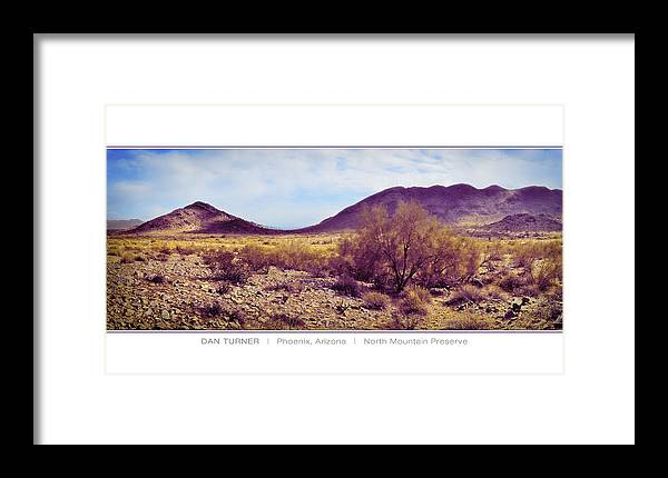 North Mountain Preserve Framed Print featuring the digital art North Mountain Preserve by Dan Turner