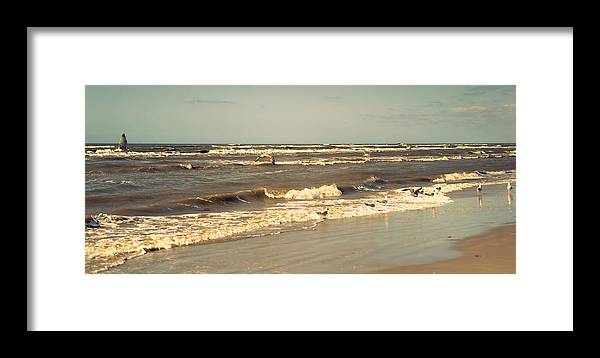 Nature Framed Print featuring the photograph North Sea Coastal Line 1. Holland by Jenny Rainbow