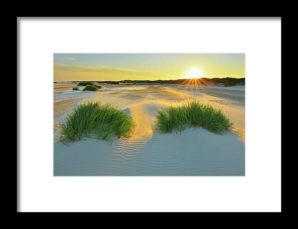 Scenics Framed Print featuring the photograph North Sea Sandbank Kniepsand by Raimund Linke